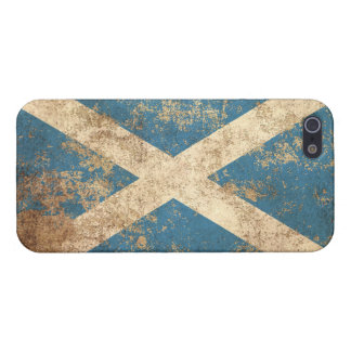 Rough Aged Vintage Scottish Flag Cover For iPhone 5/5S