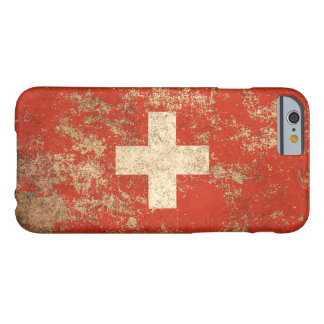 Rough Aged Vintage Swiss Flag Barely There iPhone 6 Case
