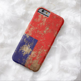 Rough Aged Vintage Taiwanese Flag Barely There iPhone 6 Case