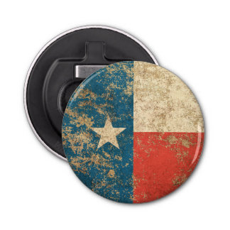 Rough Aged Vintage Texas Flag Bottle Opener