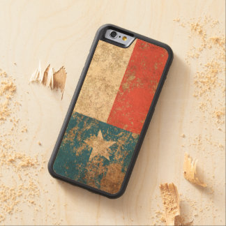 Rough Aged Vintage Texas Flag Carved® Maple iPhone 6 Bumper Case