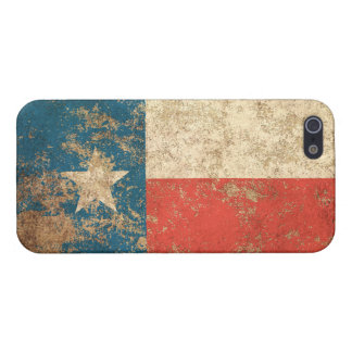 Rough Aged Vintage Texas Flag Cover For iPhone 5