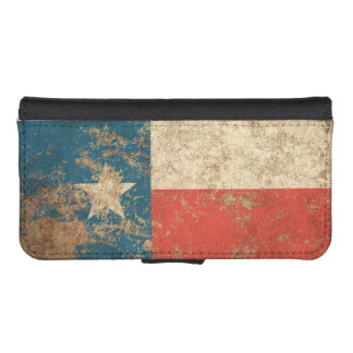 Rough Aged Vintage Texas Flag iPhone 5 Wallet Cases
