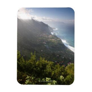 rough coast line of the atlantic island madeira magnet