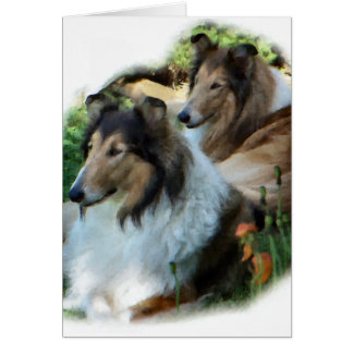 Rough Collie Art Gifts Greeting Card