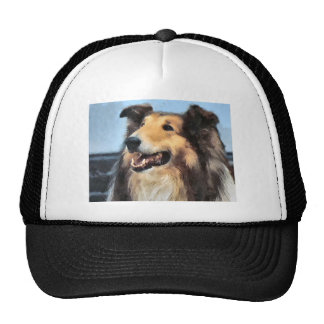 Rough Collie Art Gifts Hat