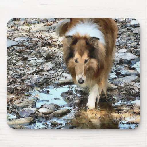 Rough Collie Art Gifts Mouse Mat