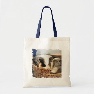 Rough Collie Art Gifts Budget Tote Bag