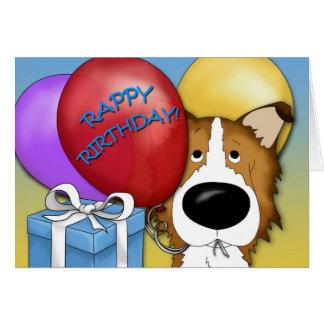 Rough Collie Birthday Card