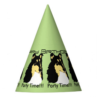 Rough Collie Birthday Party Hat