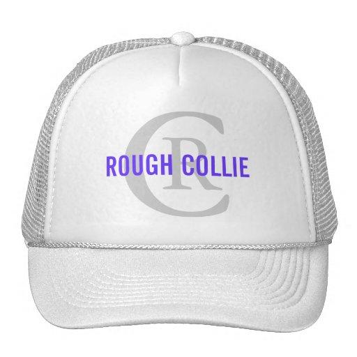 Rough Collie Breed Monogram Design Hats