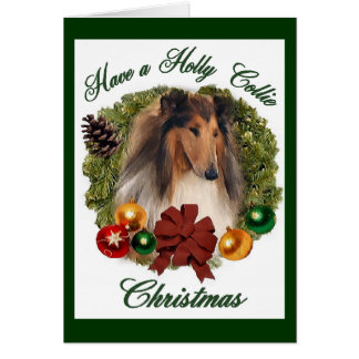 Rough Collie Christmas Gifts Greeting Card