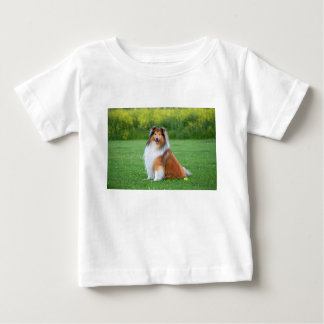 Rough Collie dog beautiful photo infant t-shirt
