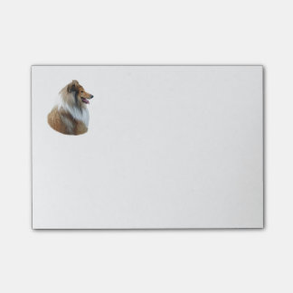 Rough Collie dog portrait photo Post-it® Notes