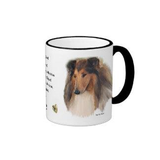 Rough Collie Gifts Ringer Mug