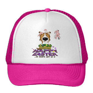 Rough Collie Happy Easter Mesh Hat
