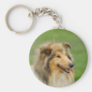 Rough Collie Key Ring