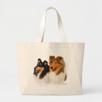 Rough Collie Large Tote Bag