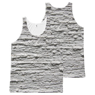 Rough Concrete Wall All-Over Print Tank Top