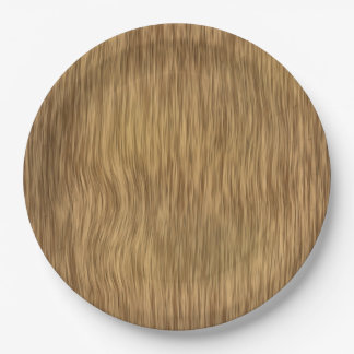 Rough Faux Wood Background in Natural Color 9 Inch Paper Plate
