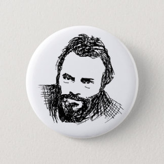 Rough Ink Sketch of Hitch 6 Cm Round Badge