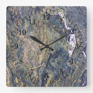 Rough Marble Wall Square Wall Clock