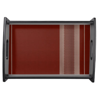 rough material sample serving tray