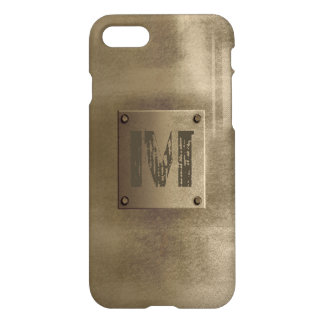 Rough Metal Bronze iPhone 7 Case