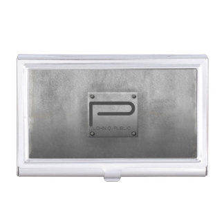 Rough Metal Plate Gray ID327 Business Card Holders