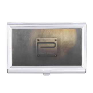 Rough Metal Plate Tarnished ID327 Business Card Holder