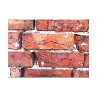 Rough old bricks and mortar canvas gallery wrapped canvas