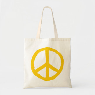 Rough Peace Symbol - Amber