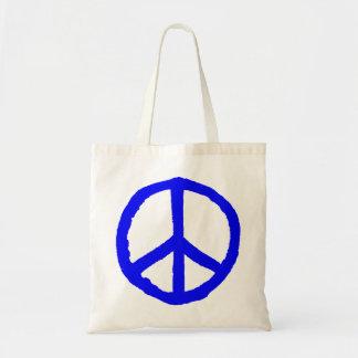 Rough Peace Symbol - Blue