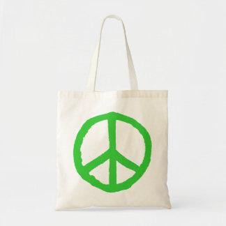 Rough Peace Symbol - Green