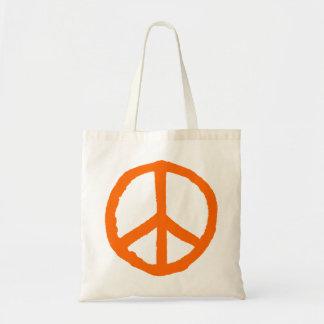 Rough Peace Symbol - Orange