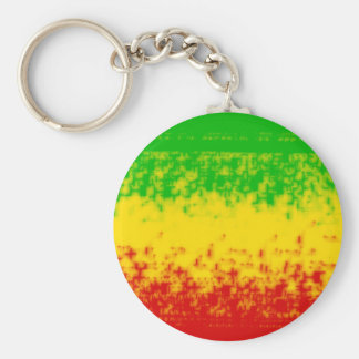Rough Rasta Design Basic Round Button Key Ring
