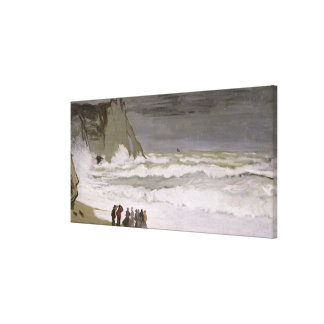 Rough Sea at Etretat, 1868-69 Canvas Print