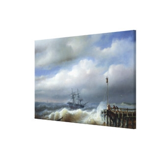 Rough Sea in Stormy Weather, 1846 Canvas Print