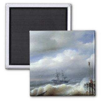Rough Sea in Stormy Weather, 1846 Magnet