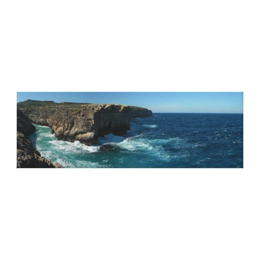 Rough Sea Panorama Gallery Wrapped Canvas
