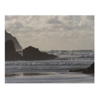 Rough Seas at Perranporth Postcard