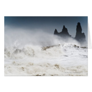 Rough Seas, Vik i Myrdal, Iceland Card
