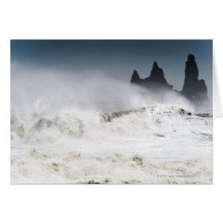 Rough Seas, Vik i Myrdal, Iceland Card