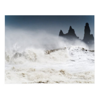 Rough Seas, Vik i Myrdal, Iceland Postcard