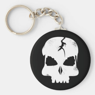 Rough Skull Captain Jacks Keychain