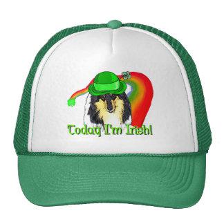 Rough Tri Collie Saint Patricks Cap
