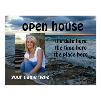 rough waters open house postcard