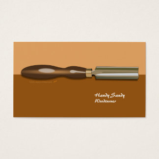 Roughing Gouge Woodturning Brown Business Card