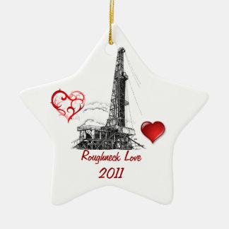 Roughneck Love Christmas Ornament