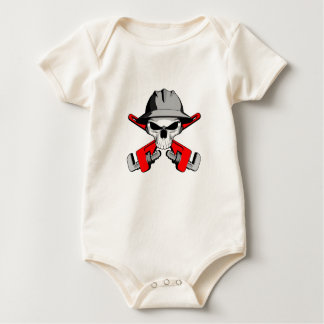 Roughneck Skull and Crossed Wrenches Baby Bodysuit